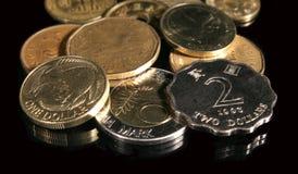 Pièces de monnaie étrangères Photos libres de droits