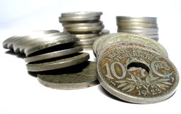 Pièces de monnaie image libre de droits