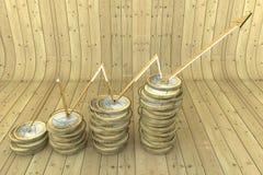 pièces de monnaie 3d Photos libres de droits