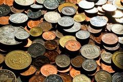 Pièces de monnaie 4 du monde Photo stock
