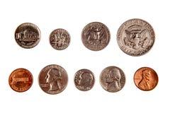 pièces de monnaie américaines photographie stock