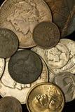 Pièces de monnaie américaines neuves et de cru Image libre de droits