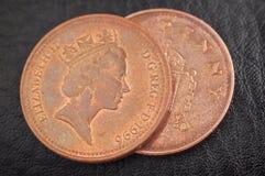 Pièces de monnaie anglaises Image libre de droits