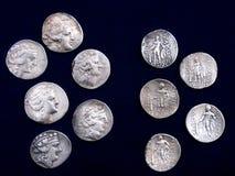 Pièces de monnaie antiques Photographie stock libre de droits