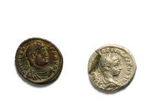Pièces de monnaie antiques Images stock