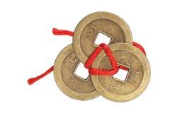 Pièces de monnaie antiques chinoises Images libres de droits