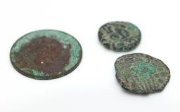 pièces de monnaie antiques vieilles Photos libres de droits