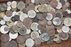 Pièces de monnaie asiatiques Photo stock