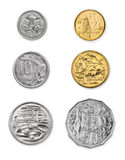Pièces de monnaie australiennes Photographie stock libre de droits
