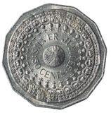 50 pièces de monnaie australiennes de cents commémorant le 25ème anniversaire de l'adhésion de la Reine Elizabeth II images libres de droits