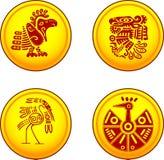 Pièces de monnaie avec des oiseaux illustration stock