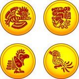 Pièces de monnaie avec des oiseaux illustration libre de droits