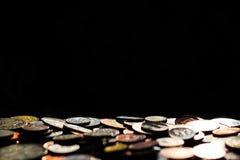 Pièces de monnaie avec l'espace de copie Photographie stock