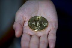 Pièces de monnaie de Bitcoin images libres de droits