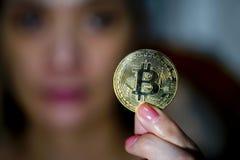 Pièces de monnaie de Bitcoin image stock