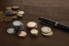 Pièces de monnaie brésiliennes Image libre de droits