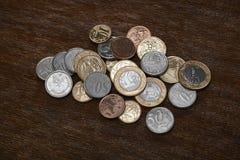 Pièces de monnaie brésiliennes Photos libres de droits
