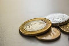 Pièces de monnaie brésiliennes Photographie stock