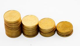 Pièces de monnaie brillantes Photos libres de droits
