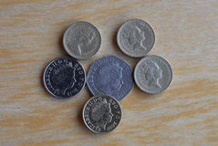 Pièces de monnaie britanniques Photo stock