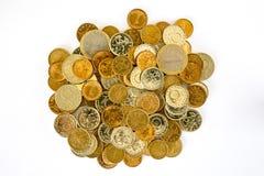 Pièces de monnaie bulgares d'argent de lev Photo stock