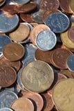 Pièces de monnaie canadiennes Image stock