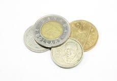 Pièces de monnaie canadiennes images libres de droits