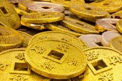 Pièces de monnaie chinoises Photos stock