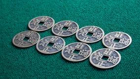 Pièces de monnaie chinoises Photos libres de droits