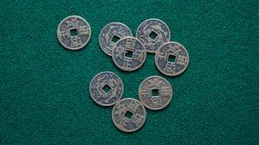 Pièces de monnaie chinoises Photographie stock