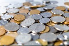 Pièces de monnaie chinoises de RMB Photographie stock