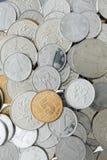Pièces de monnaie chinoises de yuans Images libres de droits