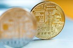 Pièces de monnaie de Cryptocurrency Images libres de droits