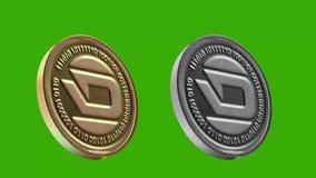 Pièces de monnaie de Cryptocurrency, TIRET illustration libre de droits