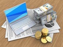 pièces de monnaie 3D Image libre de droits