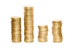 Pièces de monnaie d'or image libre de droits