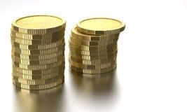 Pièces de monnaie d'or photos stock
