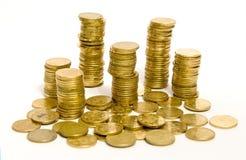 Pièces de monnaie d'or Photo libre de droits