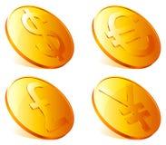 Pièces de monnaie d'or. Images stock