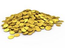Pièces de monnaie d'or illustration de vecteur