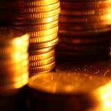 Pièces de monnaie d'or Images libres de droits