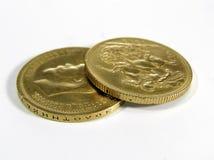 Pièces de monnaie d'or Photographie stock
