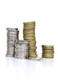 Pièces de monnaie d'argent Images stock