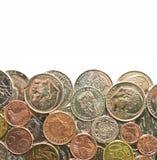Pièces de monnaie d'argent Image libre de droits