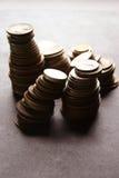 Pièces de monnaie d'argent photos libres de droits