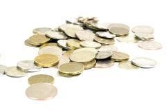 Pièces de monnaie d'argent Photos stock
