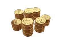 Pièces de monnaie d'argent de pièce de monnaie Image stock