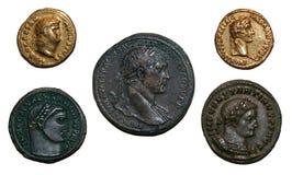 Pièces de monnaie d'empire romain Image libre de droits