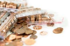 Pièces de monnaie d'euro cents Images libres de droits