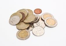 Pièces de monnaie d'invention de peso philippin photographie stock